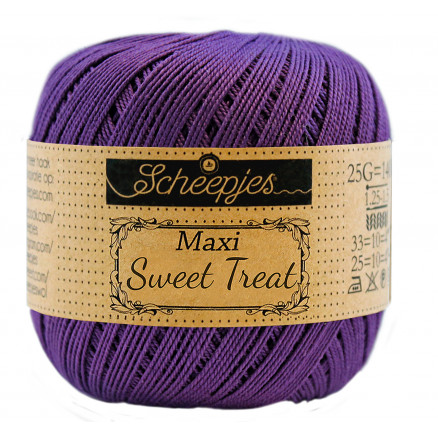 Image of   Scheepjes Maxi Sweet Treat Garn Unicolor 521 Deep Violet