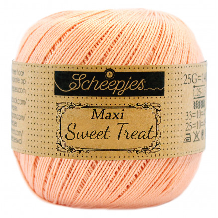 Image of   Scheepjes Maxi Sweet Treat Garn Unicolor 523 Pale Peach