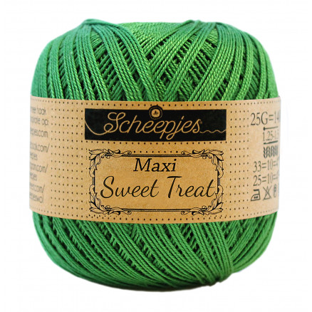 Image of   Scheepjes Maxi Sweet Treat Garn Unicolor 606 Grass Green