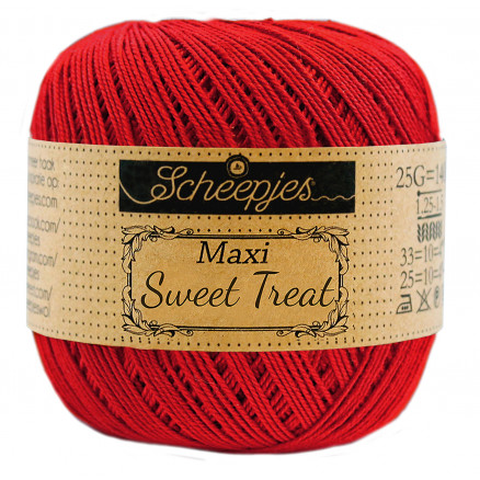 Image of   Scheepjes Maxi Sweet Treat Garn Unicolor 722 Red