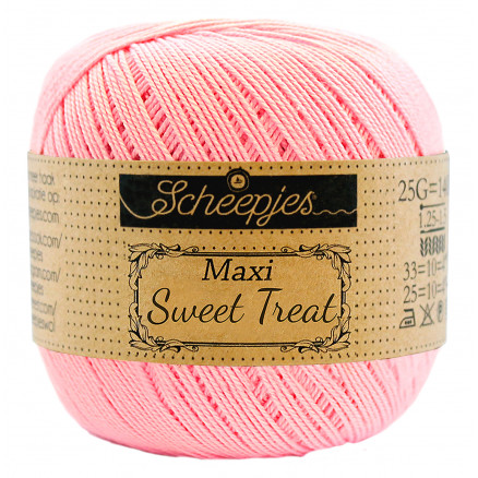 Image of   Scheepjes Maxi Sweet Treat Garn Unicolor 749 Pink