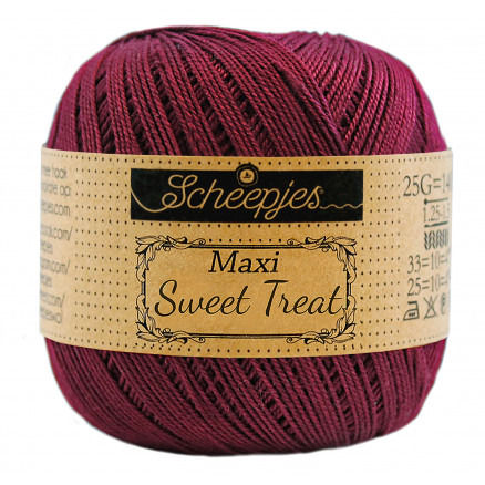 Image of   Scheepjes Maxi Sweet Treat Garn Unicolor 750 Bordeau