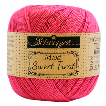 Image of   Scheepjes Maxi Sweet Treat Garn Unicolor 786 Fuchsia