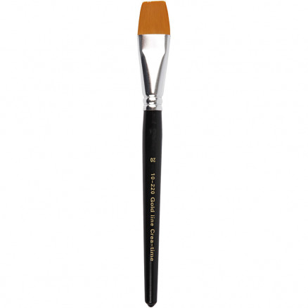 Image of   Gold Line Pensel, nr. 20 , B: 24 mm, flad, 6stk.