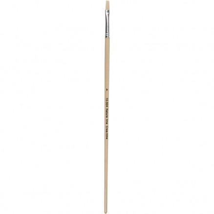Image of   Nature Line Pensler, nr. 4 , B: 7 mm, lange skafter, 12stk.