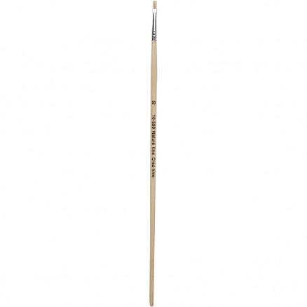 Nature Line Pensler, nr. 00 , B: 3 mm, lange skafter, 12stk. thumbnail