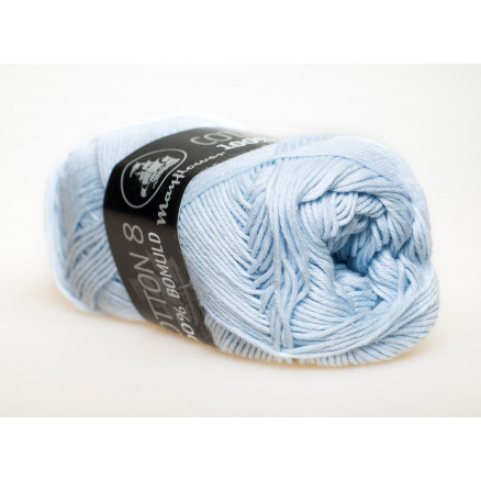 Image of   Mayflower Cotton 8/4 Garn Unicolor 1479 Lyseblå