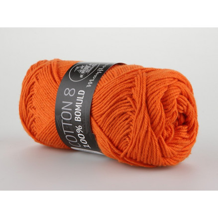 Image of   Mayflower Cotton 8/4 Garn Unicolor 1494 Mørk Orange