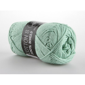 Mayflower Cotton 8/4 Garn Unicolor 1492 Mintgrøn