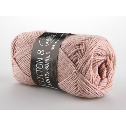 Image of   Mayflower Cotton 8/4 Garn Unicolor 1489 Støvet Rosa
