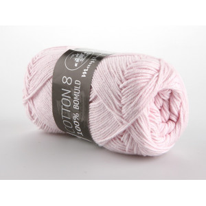 Mayflower Cotton 8/4 Garn Unicolor 1488 Lys Rosa
