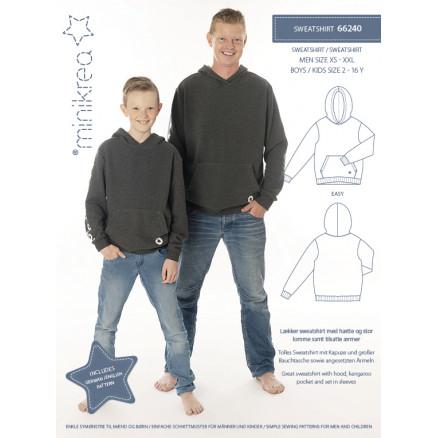 Image of   MiniKrea Snitmønster 66240 Sweatshirt Str. 2-16 år