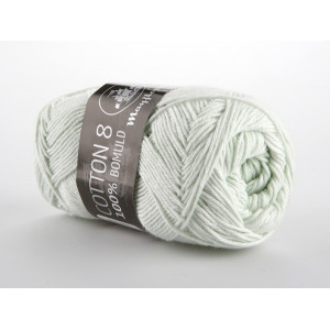 Mayflower Cotton 8/4 Garn Unicolor 1486 Lys Mintgrøn