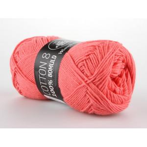 Image of   Mayflower Cotton 8/4 Garn Unicolor 1460 Koral