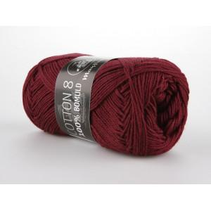 Mayflower Cotton 8/4 Garn Unicolor 1454 Vinrød