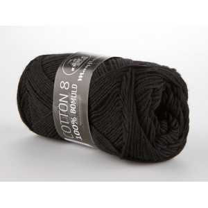 Mayflower Cotton 8/4 Garn Unicolor 1443 Sort