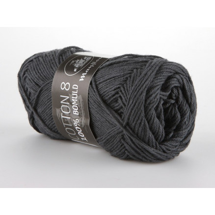 Image of   Mayflower Cotton 8/4 Garn Unicolor 1442 Mørkegrå