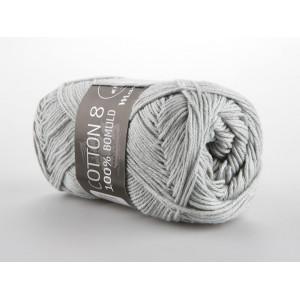Mayflower Cotton 8/4 Garn Unicolor 1440 Lysegrå