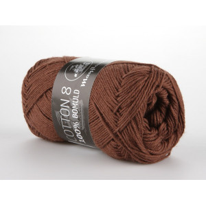 Mayflower Cotton 8/4 Garn Unicolor 1437 Rødbrun