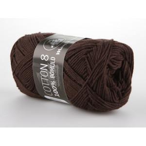 Mayflower Cotton 8/4 Garn Unicolor 1436 Mørkebrun