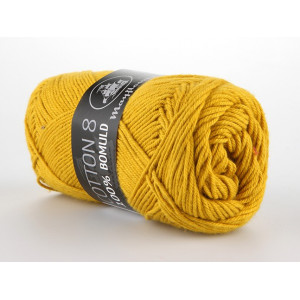 Mayflower Cotton 8/4 Garn Unicolor 1435 Sennepsgul