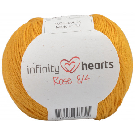 Image of   Infinity Hearts Rose 8/4 Garn Unicolor 190 Sennep