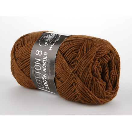 Image of   Mayflower Cotton 8/4 Garn Unicolor 1432 Brun