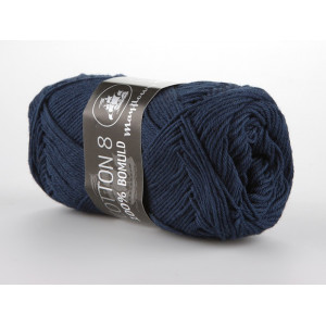 Mayflower Cotton 8/4 Garn Unicolor 1423 Marineblå