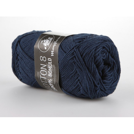 Image of   Mayflower Cotton 8/4 Garn Unicolor 1423 Marineblå