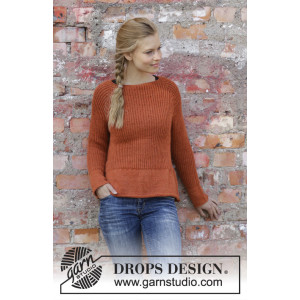 Last Days of Autumn by DROPS Design - Bluse Strikkeopskrift str. S - XXXL