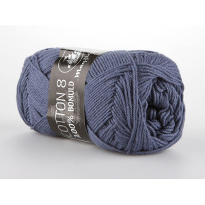 Mayflower Cotton 8/4 Garn Unicolor 1421 Jeansblå