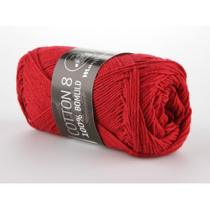 Mayflower Cotton 8/4 Garn Unicolor 1412 Mørkerød