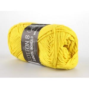 Mayflower Cotton 8/4 Garn Unicolor 1405 Gul