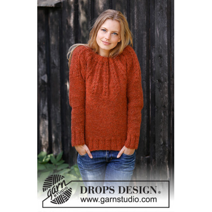 db6587fa2163 Clemence by DROPS Design - Bluse Strikkeopskrift str. S - XXXL - Rito.dk