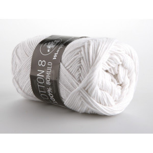 Mayflower Cotton 8/4 Garn Unicolor 1402 Hvid