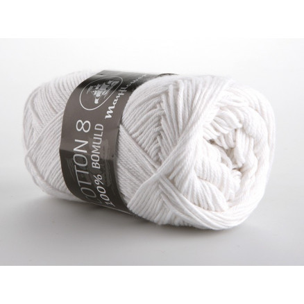Image of   Mayflower Cotton 8/4 Garn Unicolor 1402 Hvid