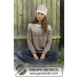Talvik by DROPS Design - Bluse Strikkeopskrift str. S - XXXL
