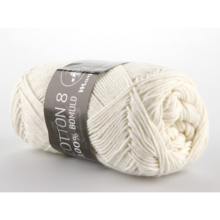 Image of   Mayflower Cotton 8/4 Garn Unicolor 1401 Natur