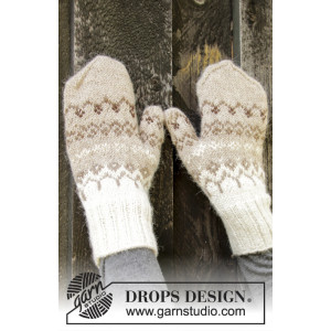 Talvik Mittens by DROPS Design - Vanter Strikkeopskift str. S/M