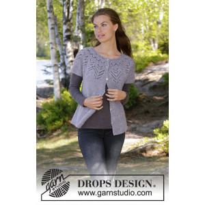 Agnes Cardi by DROPS Design - Vest Strikkeopskrift str. S - XXXL