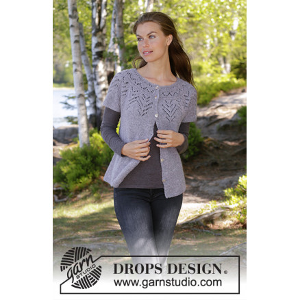 Image of   Agnes Cardi by DROPS Design - Vest Strikkeopskrift str. S - XXXL