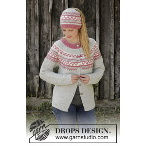 Hint of Heather by DROPS Design - Jakke Strikkeopskift str. S - XXXL