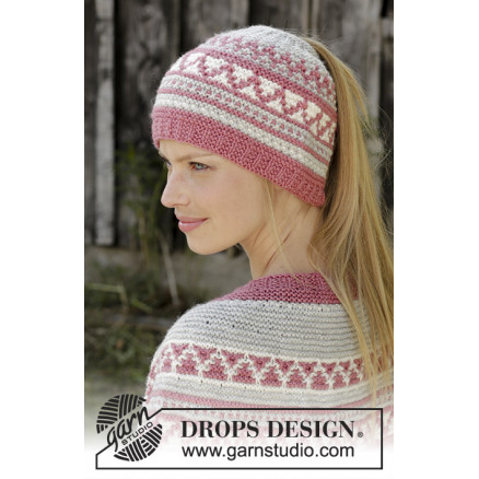 Image of   Hint of Heather Hatby DROPS Design - Hue Strikkeopskrift str. S/M - L