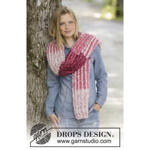 Raspberry Hug by DROPS Design - Halstørklæde Strikkeopskrift 173x32 cm