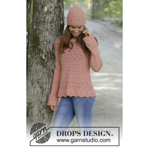 Lady Angelika by DROPS Design - Bluse Strikkeopskrift str. S - XXXL