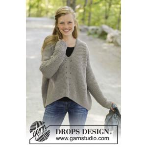 Wednesday Morningby DROPS Design - Bluse Strikkeopskrift str. S - XXXL