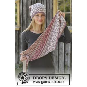 Purple Wayby DROPS Design - Hue og Sjal Strikkeopskrift str. S/M - M/L