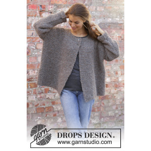 Willow Lane Jacket by DROPS Design - Jakke Strikkeopskift str. S - XXXL