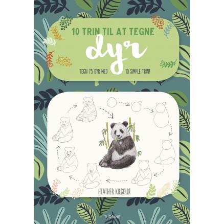 10 trin til at tegne dyr - Bog af Heather Kilgour thumbnail