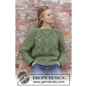 Miss Mossby DROPS Design - Bluse Strikkeopskrift str. S - XXXL
